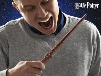 Harry Potter tryllestav av sjokolade